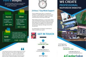 web design brochure - cover