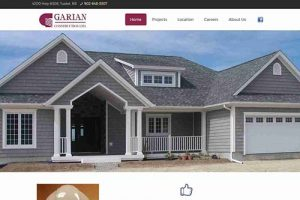 Garian Construction website