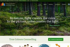 True Colours Counselling website